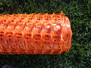 UV Stabilized Orange Plastic Fence , Visual Barrier Polyethylene Mesh Fence