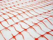 Crowd Control Orange Plastic Construction Netting For Sport Event 60g/m2 - 200g/m2